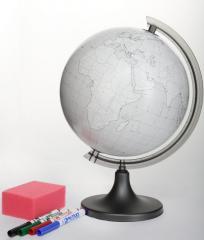 Globus 250 konturowy + gąbka i ścieralne flamastry