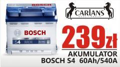 Akumulator Bosch S4 60Ah/540A akumulator