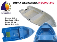 Łódka wędkarska z kilem i wzmocnioną pawężą pod silnik do 4KM