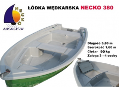 Stabilna łódź wędkarska wiosłowo - silnikowa z dwiema bakistami