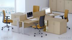 Tanie biurka biurowe ECO PLUS Massoni