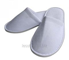 Slippers covered thick velour