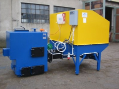 Biomass burner  for burning oats, dry sawdust,