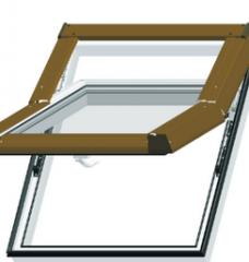 Okna dachowe SKYLIGHT -  okno umieszczane w połaci dachu w celu oświetlenia pomieszczeń poddasza. Otwierane najczęściej przez obrót dookoła poziomej osi przechodzącej przez środek okna.