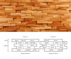 Drewniane łupki ścienne - kolor naturalny