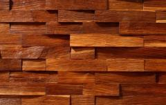 Drewniane łupki ścienne - kolor ciemny brąz