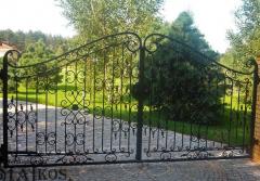 Bramy kute - typ ogrodzenia odgradzającego