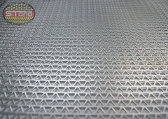 Punched metal plate