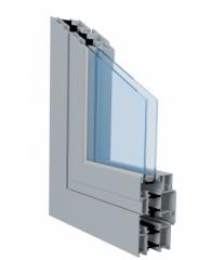 Okna aluminiowe z izolacją termiczną w systemie