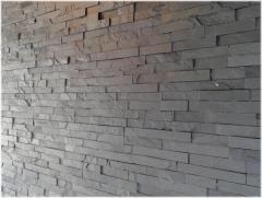 Kamień dekoracyjny Czarny panel 10x40