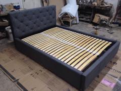 Łóżko tapicerowane 160 x 200  rama drewno , stelaż