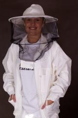 Bluza pszczelarska rozpinana z kapeluszem