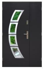 Drzwi Toronto Inox Uno - Dwuskrzydłowe,
