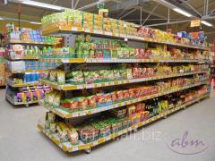 Wyposażenie sklepów spożywczych - regały metalowe