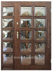 Exterior doors with glass convex