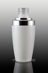 Butelka szklana biała,  perłowa