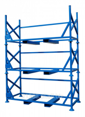 Rack for storage of bales