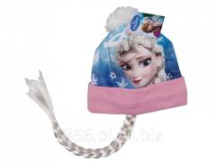 Disney Frozen, zimowa czapka z warkoczem, Kraina Lodu
