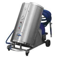Przewoźna stacja mycia dla przemysłu spożywczego z kompresorem.