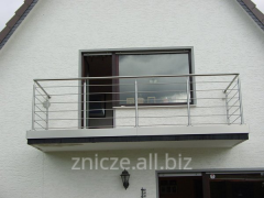 Balustrades, balconies, railing made of metal