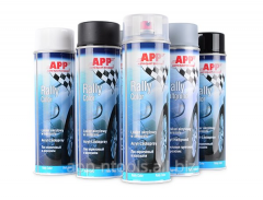 APP Rally Color Spray Acrylic topcoats and primers