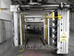 Linia automatyczna do obkurczania, owijania, pakowania palet / palety 2010 r.