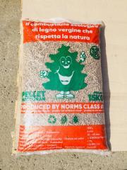 Les granulés de bois dans des sacs, la clairance