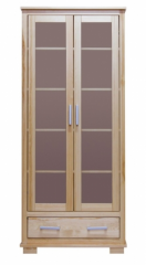 Double doors showcase with a drawer, lacquered