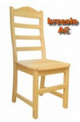 Ac wooden chair made of solid pine, painted by