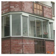 Balcony glazing frame