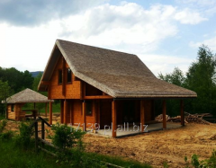 Log houses. Constructions houses built of wooden