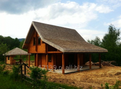 Construction of log houses.