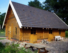 Log houses, construction services on the basis of
