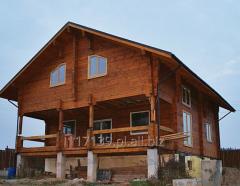 Domy drewniane z bali sosnowych kwadratowych i