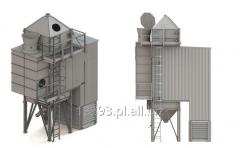 Grain dryers of tower type