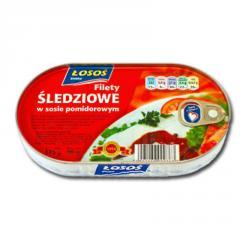 Filety śledziowe w sosie pomidorowym 175 g EO