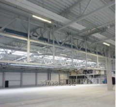 Structures made of lightweight steel beams