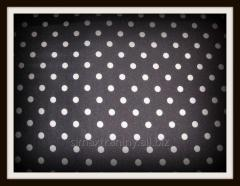 Tkanina drukowana poliestrowa - print kropki, dots