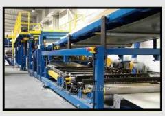 The lines for the production of sandwich panels
