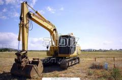 Excavators, foundation pit