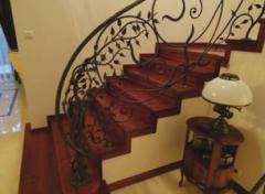 Decorative wrought iron railings, stair railings