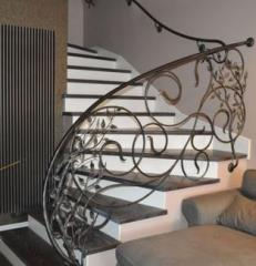 Ornate wrought-iron railings, finished projects or