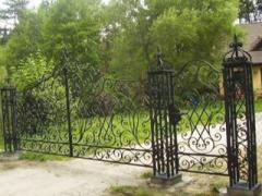 The gate of the elements forged decorative gates