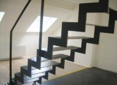 Stairs of steel components, measurement,