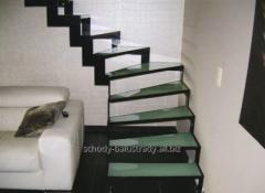 Modern glass stairs, with strong safety glass,