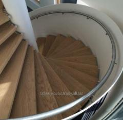 Stairs, wooden spiral staircase, wooden stairs,