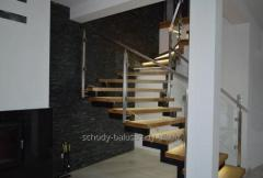 Glass railings, modern design, precision