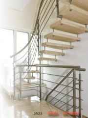 Metal railings, stairs traditional, modern and
