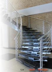 Rich design, stairs and railings on the dimension