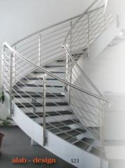Railings, stairs glazing, assembly and production